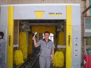 China Arruela automática do carro do derrubamento com escova do whell e secagem automática do ar fábrica